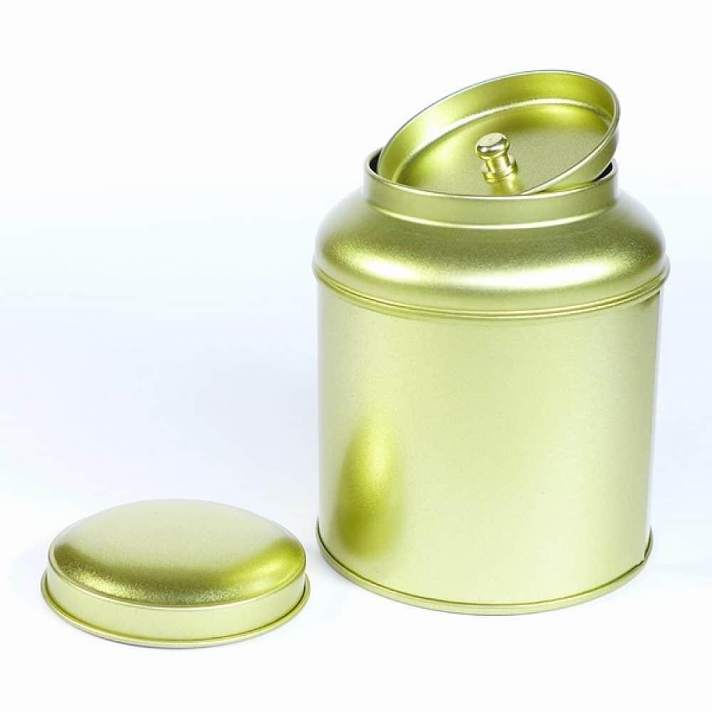 Bewaarblik thee dome goud