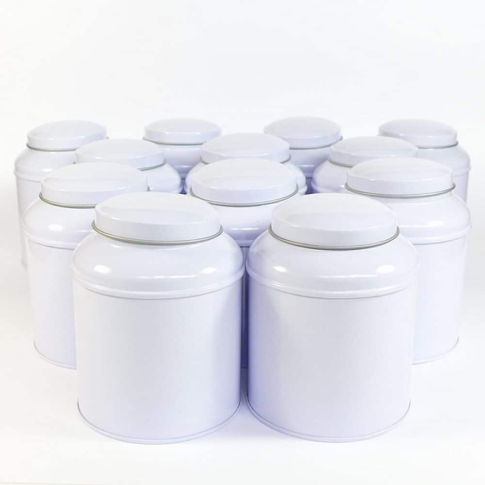 Bewaarblik thee dome wit