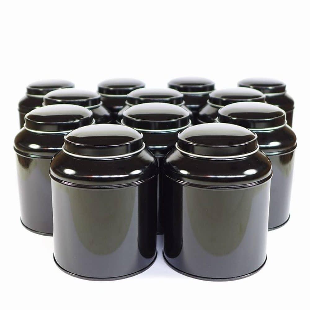 Bewaarblik thee dome zwart